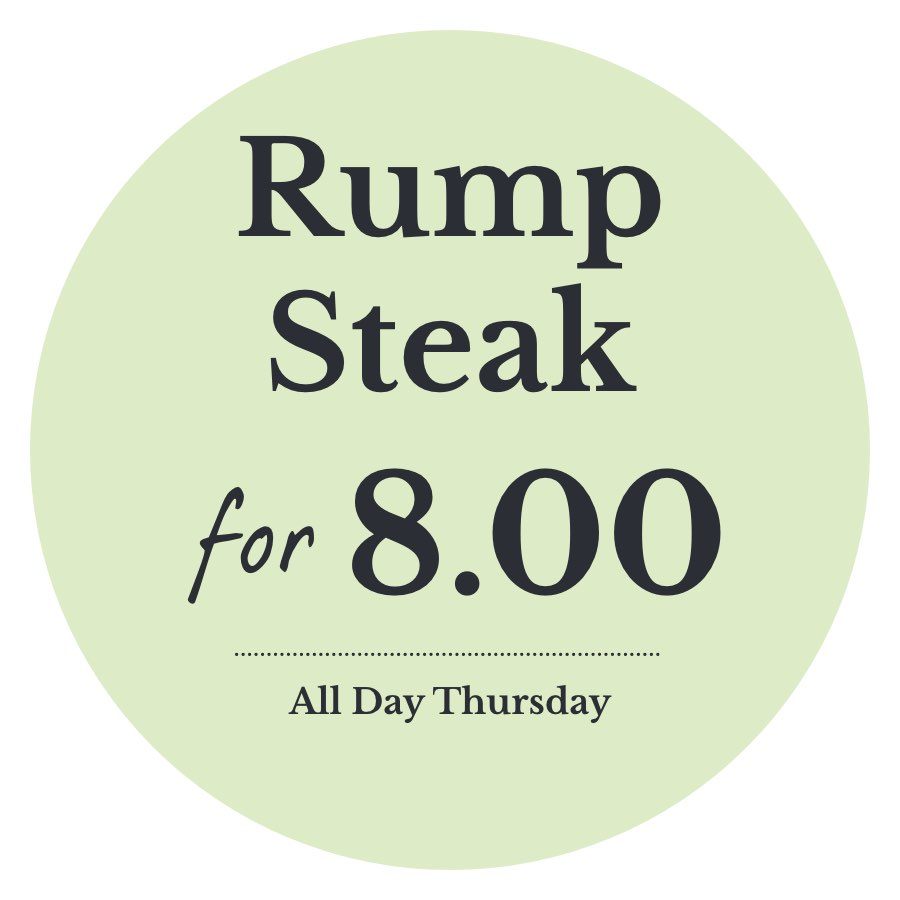 Rump steak for £8 every Thursday