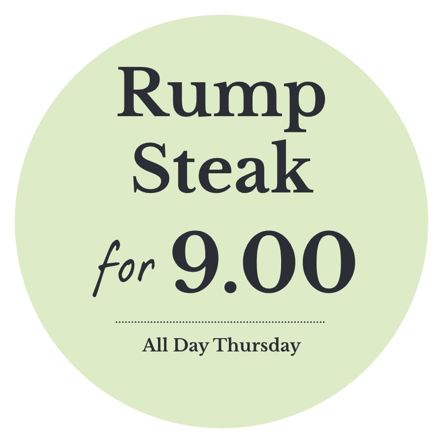 Rump steak for £9 every Thursday