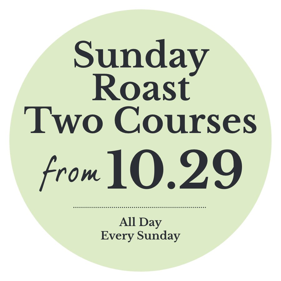 Sunday Roast two courses from just £10.29