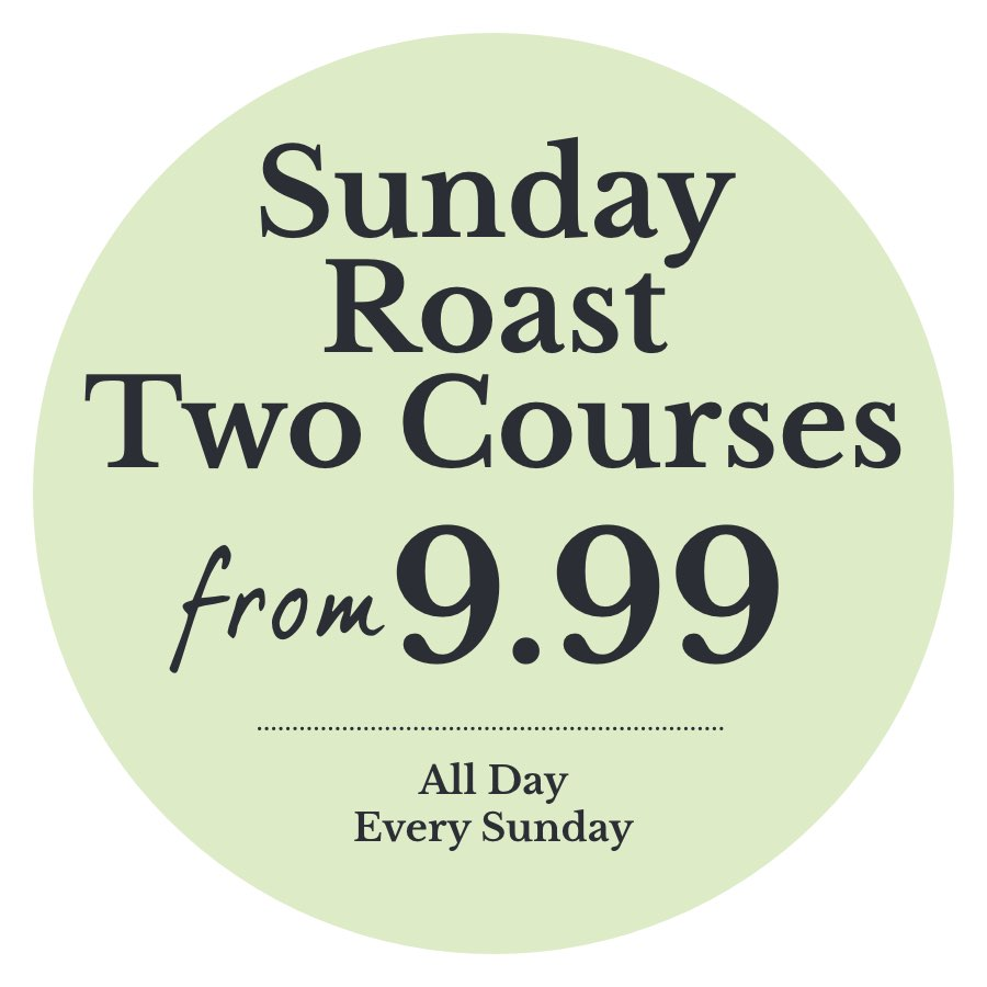 Sunday Roast two courses from just £9.99